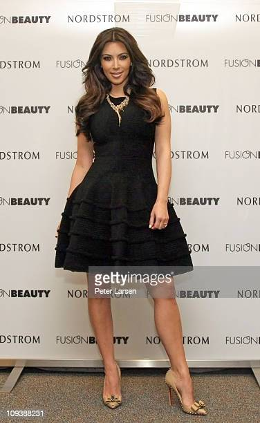 Kim Kardashian appears for FusionBeauty at Nordstrom Galleria on February 23 2011 in Dallas Texas