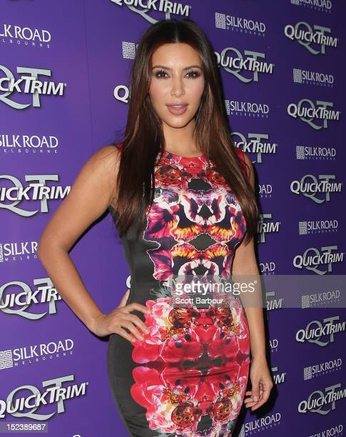 Kim Kardashian arrives at a Quick Trim VIP Event on September 20 2012 in Melbourne Australia