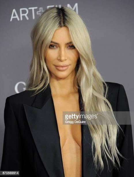 Kim Kardashian arrives at the 2017 LACMA Art Film Gala honoring Mark Bradford and George Lucas at LACMA on November 4 2017 in Los Angeles California