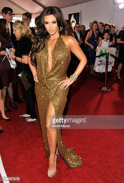 Kim Kardashian arrives at The 53rd Annual GRAMMY Awards held at Staples Center on February 13, 2011 in Los Angeles, California.