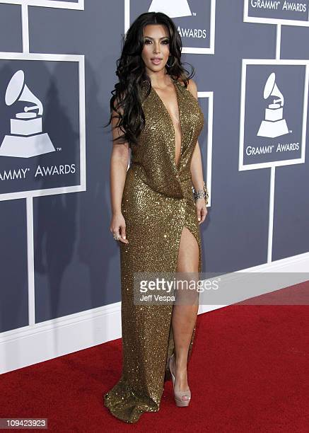 Kim Kardashian arrives at The 53rd Annual GRAMMY Awards held at Staples Center on February 13 2011 in Los Angeles California