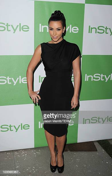 Kim Kardashian arrives at the 9th Annual InStyle Summer Soiree on August 12 2010 in Los Angeles California