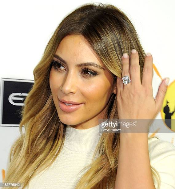 Kim Kardashian arrives at the Gelila And Wolfgang Puck's Dream For Future Africa Foundation Gala at Spago on October 24, 2013 in Beverly Hills,...