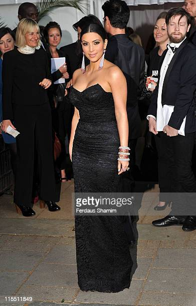 Kim Kardashian arrives at the Glamour Women Of The Year Awards at Berkeley Square Gardens on June 7, 2011 in London, England.