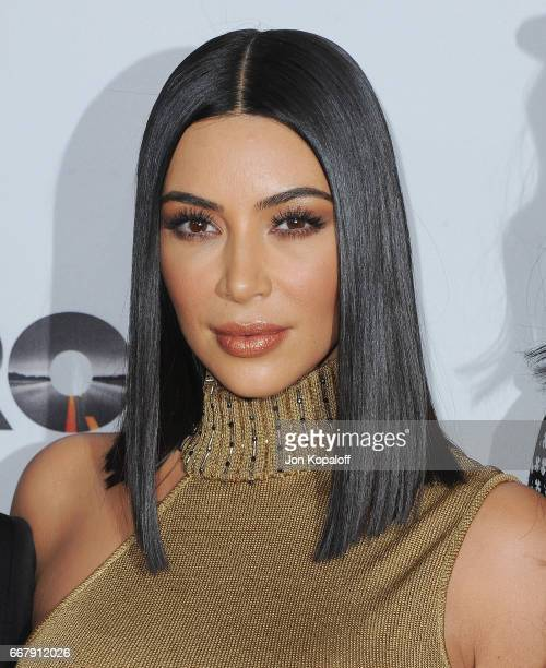 Kim Kardashian arrives at the Los Angeles Premiere The Promise at TCL Chinese Theatre on April 12 2017 in Hollywood California
