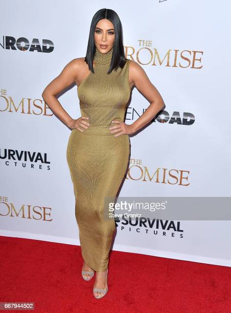 "Kim Kardashian arrives at the Premiere Of Open Road Films' ""The Promise"" at TCL Chinese Theatre on April 12, 2017 in Hollywood, California."