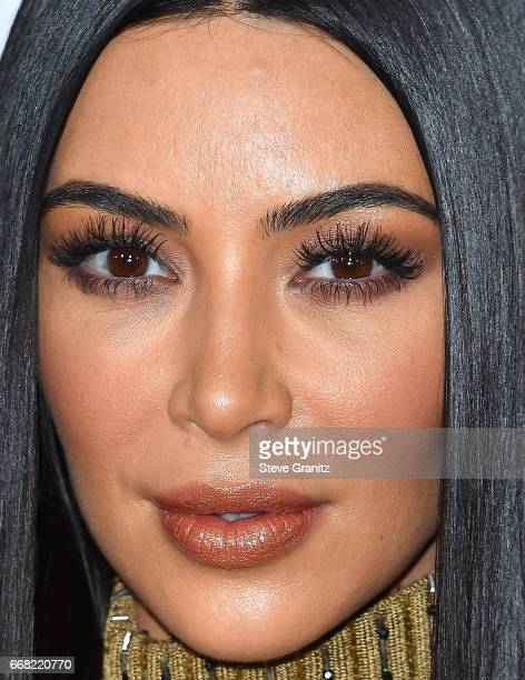 Kim Kardashian arrives at the Premiere Of Open Road Films' 'The Promise' at TCL Chinese Theatre on April 12 2017 in Hollywood California