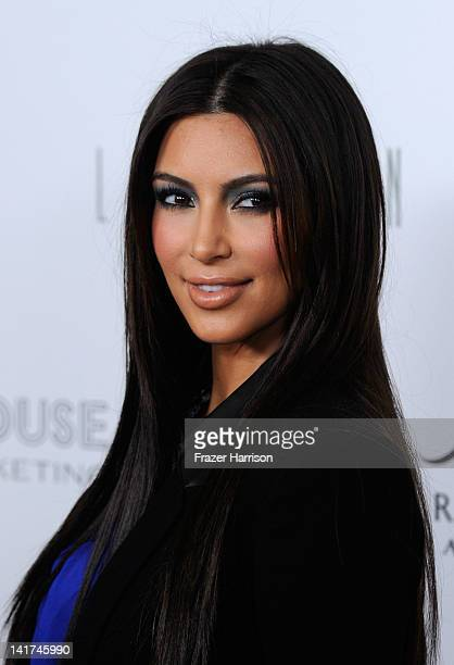 Kim Kardashian arrives at the True Reflection Fragrance Launch at The London West Hollywood on March 22 2012 in West Hollywood California