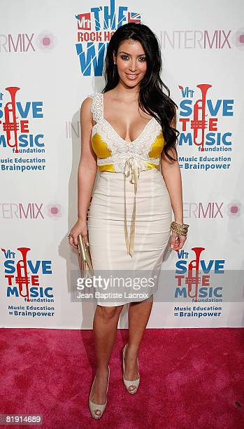 Kim Kardashian arrives at the VH1 Rock Honors Exclusive VIP Party at Intermix on July 11 2008 in Los Angeles California