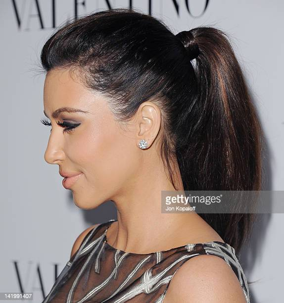 Kim Kardashian arrives at Valentino 50th Anniversary And New Flagship Store Opening On Rodeo Drive at Valentino Boutique on March 27 2012 in Beverly...