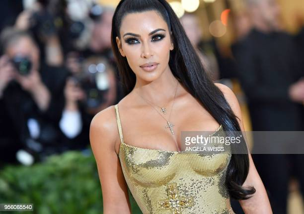 Kim Kardashian arrives for the 2018 Met Gala on May 7 at the Metropolitan Museum of Art in New York The Gala raises money for the Metropolitan Museum...