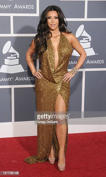 Kim Kardashian arrives for the 53rd Annual GRAMMY Awards at the Staples Center February 13 2011 in Los Angeles California