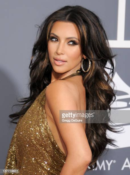 Kim Kardashian arrives for the 53rd Annual GRAMMY Awards at the Staples Center, February 13, 2011 in Los Angeles, California.