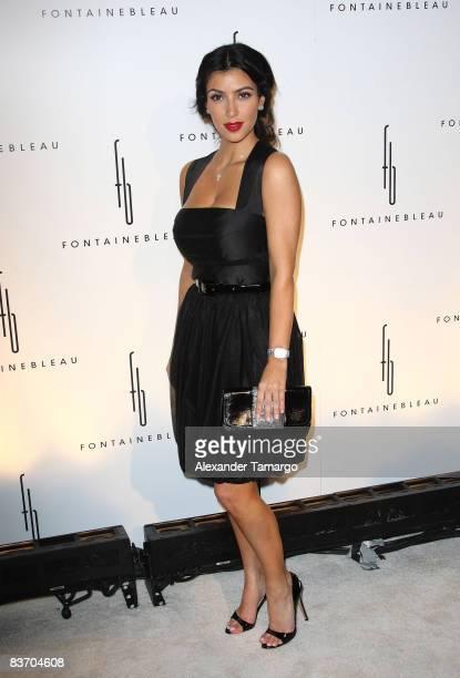 Kim Kardashian arrives for the grand opening of Fontainebleau Miami Beach on November 14 2008 in Miami Beach Florida
