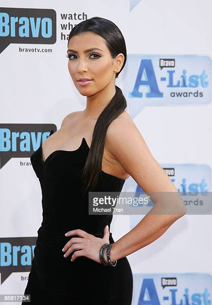 Kim Kardashian arrives to Bravo's 2nd Annual AList Awards held at The Orpheum Theatre on April 5 2009 in Los Angeles California
