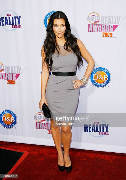 Kim Kardashian arrives to the 2009 Fox Reality Channel Really Awards held at The Music Box at the Fonda Hollywood on October 13 2009 in Los Angeles...