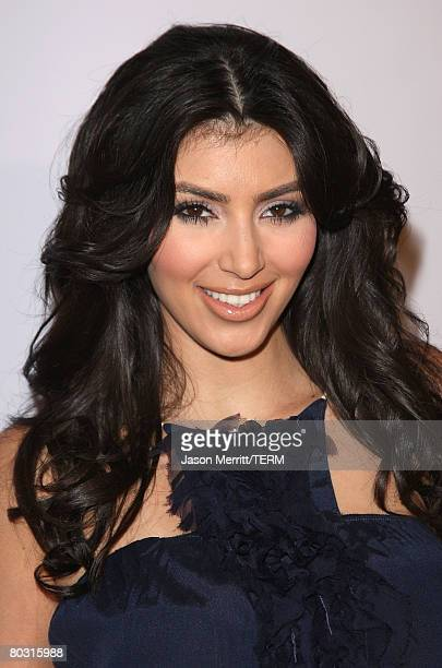 Kim Kardashian arrives to the Season 2 Launch premiere party of Keeping up with the Kardashians at Les Deux Night Club on March 19 2008 in Hollywood...