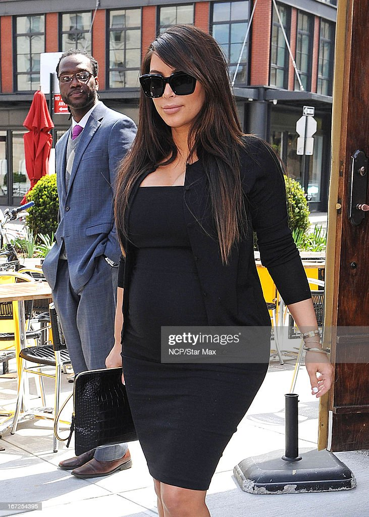 Kim Kardashian as seen on April 22, 2013 in New York City.