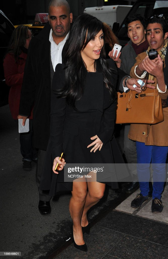 Kim Kardashian as seen on January 15, 2013 in New York City.