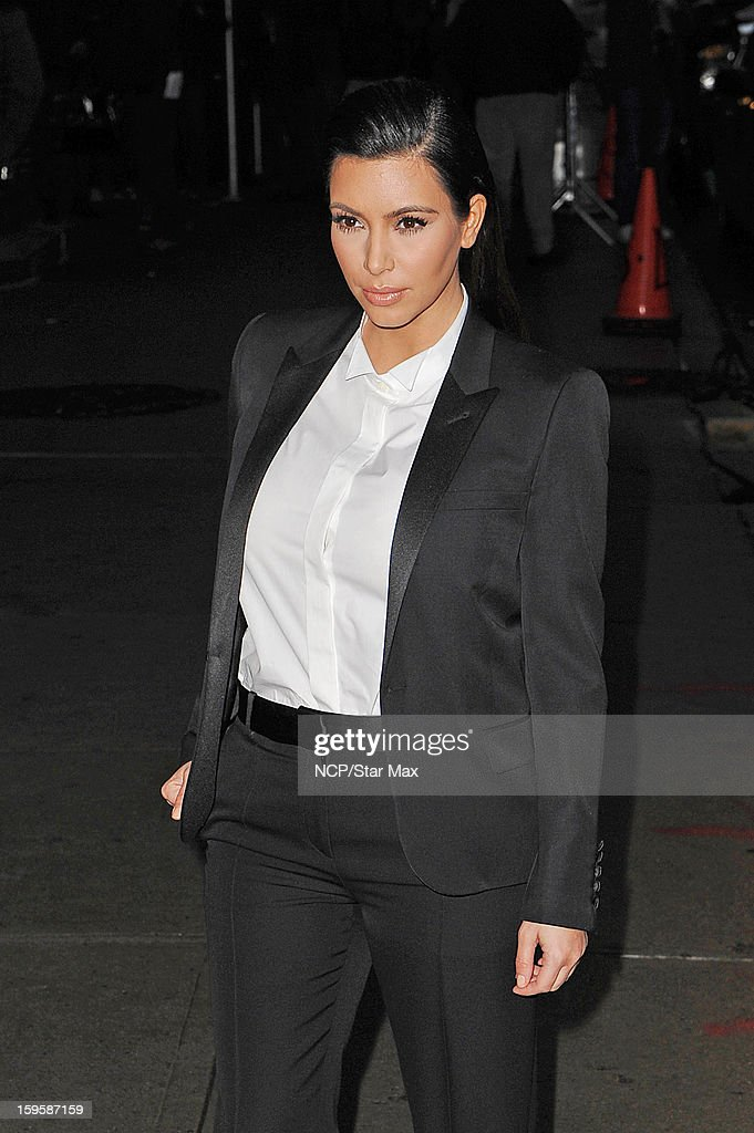 Kim Kardashian as seen on January 16, 2013 in New York City.