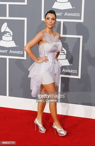 Kim Kardashian at the 51st Annual Grammy Awards at the Staples Center in Los Angeles February 08 2009