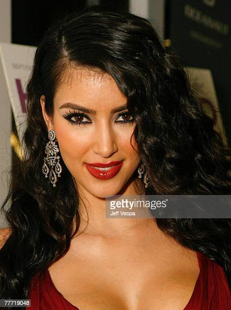 Kim Kardashian at the Keeping Up With The Kardashians premiere party on October 9 2007 in West Hollywood California