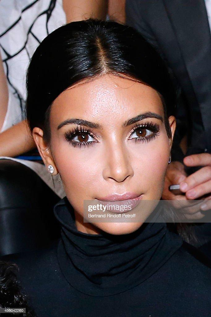 Kim Kardashian atends the Balenciaga show as part of the Paris Fashion Week Womenswear Spring/Summer 2015 on September 24, 2014 in Paris, France.