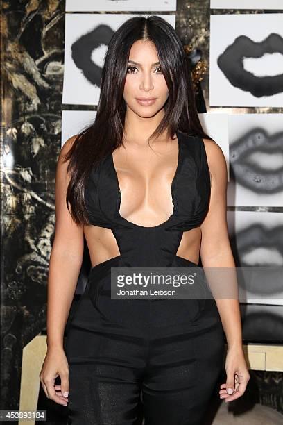 Kim Kardashian attend the VIOLET GREY Cassandra Huysentruyt Grey Host Artist In Residence Donald Robertson on August 20 2014 in Los Angeles California