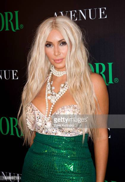 Kim Kardashian attends 2nd Annual Midori Green Halloween Party at Avenue on October 27 2012 in New York City