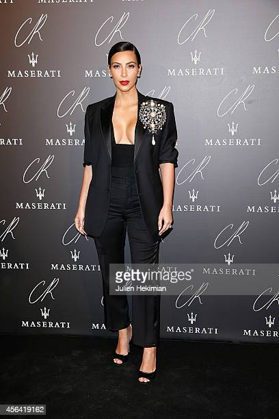 Kim Kardashian attends CR Fashion Book Issue N°5 Launch Party as part of the Paris Fashion Week Womenswear Spring/Summer 2015 on September 30 2014 in...