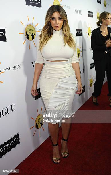 Kim Kardashian attends Dream for Future Africa Foundation Inaugural Gala honoring Franca Sozzani of VOGUE Italia at Spago on October 24 2013 in...