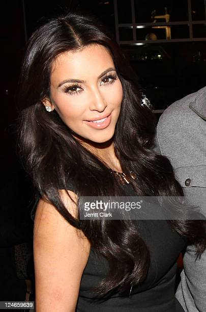 "Kim Kardashian attends Duane McLaughlin's ""Ready To Live"" album release party on Utopia III at Pier 60 on September 10, 2011 in New York City."