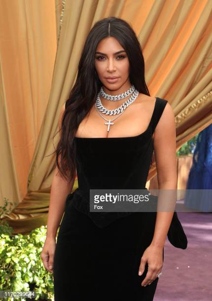 Kim Kardashian attends FOXS LIVE EMMY RED CARPET ARRIVALS during the 71ST PRIMETIME EMMY AWARDS airing live from the Microsoft Theater at L.A. LIVE...