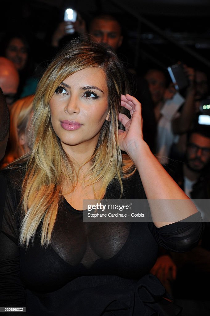 Kim Kardashian attends Givenchy show, as part of the Paris Fashion Week Womenswear Spring/Summer 2014, in Paris.