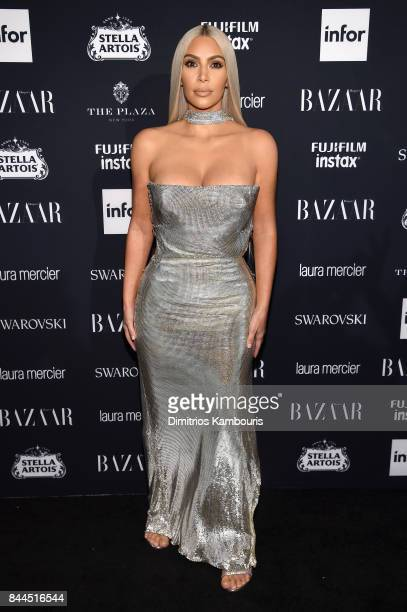 Kim Kardashian attends Harper's BAZAAR Celebration of ICONS By Carine Roitfeld at The Plaza Hotel presented by Infor Laura Mercier Stella Artois...