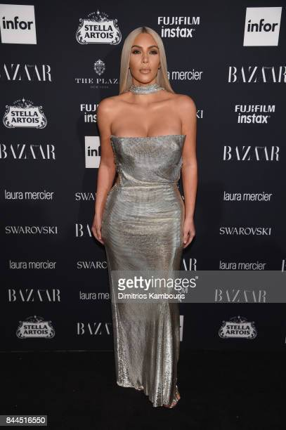 Kim Kardashian attends Harper's BAZAAR Celebration of 'ICONS By Carine Roitfeld' at The Plaza Hotel presented by Infor Laura Mercier Stella Artois...