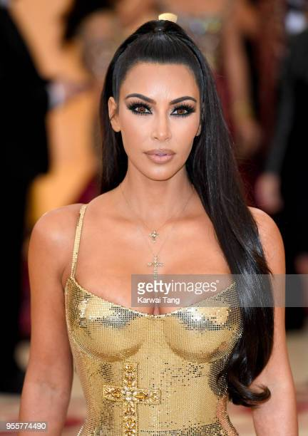 Kim Kardashian attends Heavenly Bodies Fashion The Catholic Imagination Costume Institute Gala at the Metropolitan Museum of Art on May 7 2018 in New...