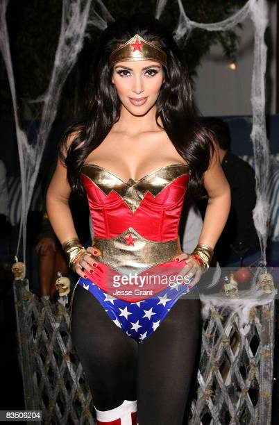 Kim Kardashian attends her Halloween party hosted by PAMA at Stone Rose on October 30, 2008 in Los Angeles, California.