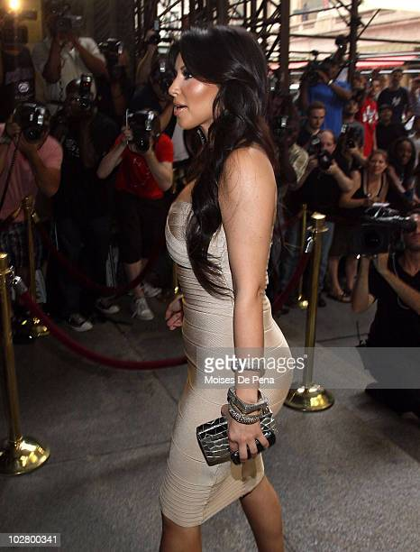 Kim Kardashian attends La La Vasquez Carmelo Anthony's wedding at Cipriani 42nd Street on July 10 2010 in New York City