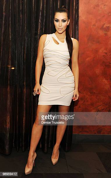 Kim Kardashian attends Lala Vasquez's Bachelorette Party at Tao restaurant at the Venetian Hotel and Casino Resort on May 7 2010 in Las Vegas Nevada