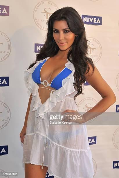 Kim Kardashian attends Nivea and Shay Todd's Bikini Bash at Nivea Beach House on May 24 2009 in Malibu California