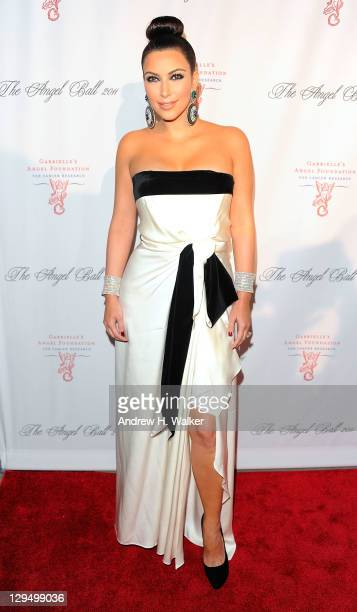 Kim Kardashian attends the 2011 Angel Ball To Benefit Gabrielle's Angel Foundation at Cipriani Wall Street on October 17, 2011 in New York City.