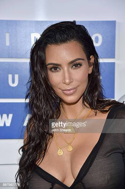Kim Kardashian attends the 2016 MTV Video Music Awards on August 28 2016 in New York City