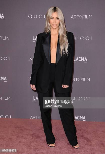 Kim Kardashian attends the 2017 LACMA Art Film gala at LACMA on November 4 2017 in Los Angeles California