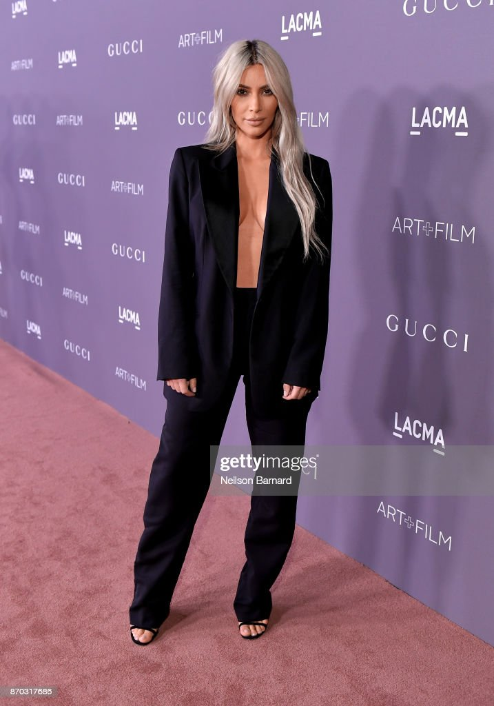 Kim Kardashian attends the 2017 LACMA Art + Film Gala Honoring Mark Bradford and George Lucas presented by Gucci at LACMA on November 4, 2017 in Los Angeles, California.