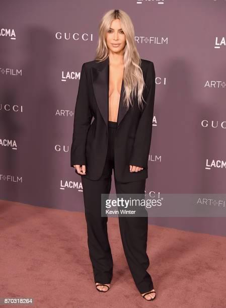 Kim Kardashian attends the 2017 LACMA Art Film Gala Honoring Mark Bradford And George Lucas at LACMA on November 4 2017 in Los Angeles California