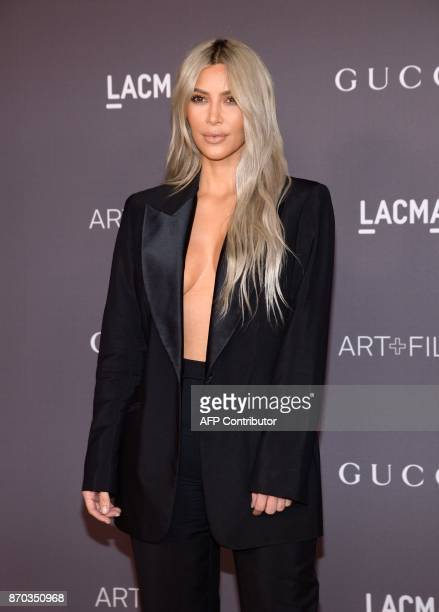 Kim Kardashian attends the 2017 LACMA Art Film Gala Honoring Mark Bradford and George Lucas on November 4 in Los Angeles California / AFP PHOTO /...