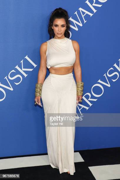 Kim Kardashian attends the 2018 CFDA Awards at Brooklyn Museum on June 4 2018 in New York City