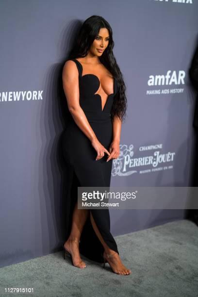 Kim Kardashian attends the 2019 amfAR New York Gala at Cipriani Wall Street on February 06 2019 in New York City