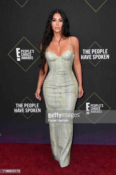 Kim Kardashian attends the 2019 E People's Choice Awards at Barker Hangar on November 10 2019 in Santa Monica California